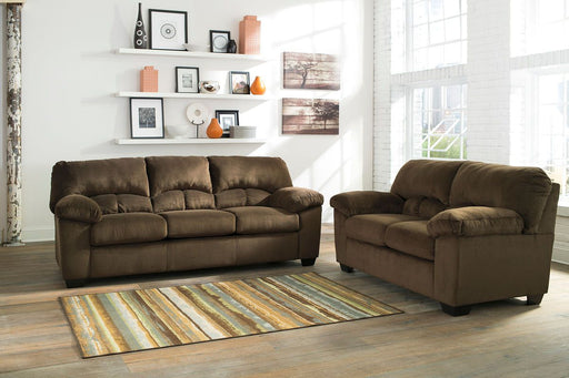 Dailey Chocolate 2 Piece Living Room Set