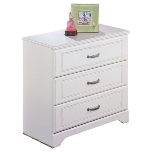 Lulu White Two Drawer Night Stand