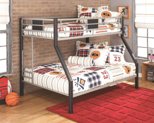 Dinsmore Black/Gray Bunk Bed Frame