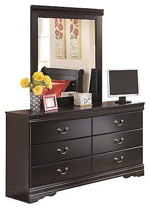 Huey Vineyard Black Dresser and Mirror