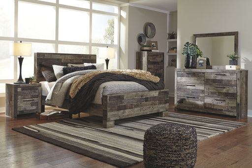 Derekson Multi Gray Queen Bed Frame