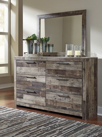 Derekson Multi Gray Dresser and Mirror