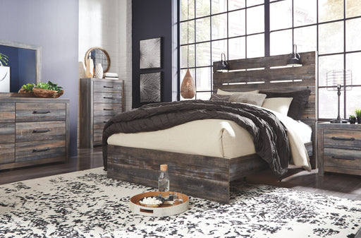 Drystan Multi Gray 5 Piece Queen Bedroom Set