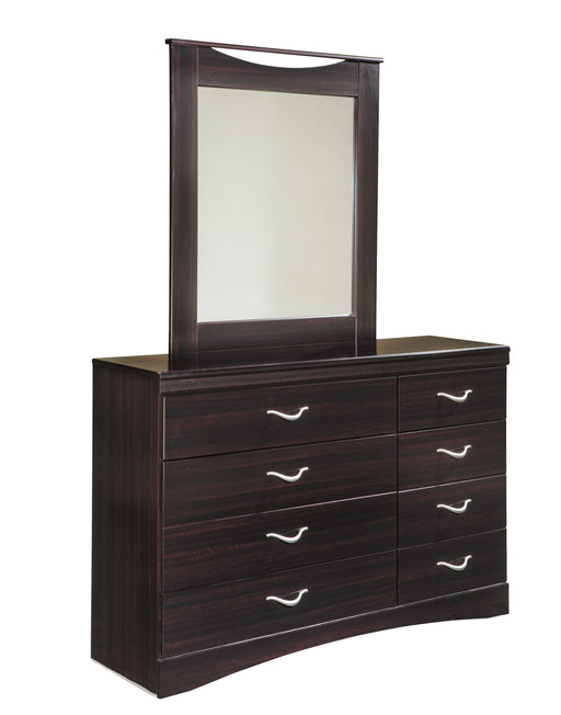 Zanbury Merlot Dresser and Mirror