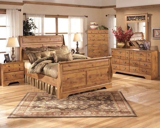 Bitter Sweet Light Brown Queen Sleigh Bed Frame