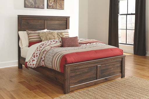 Quinden Dark Brown Queen Bed Frame