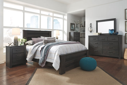 Brinxton Black Queen Bed Frame