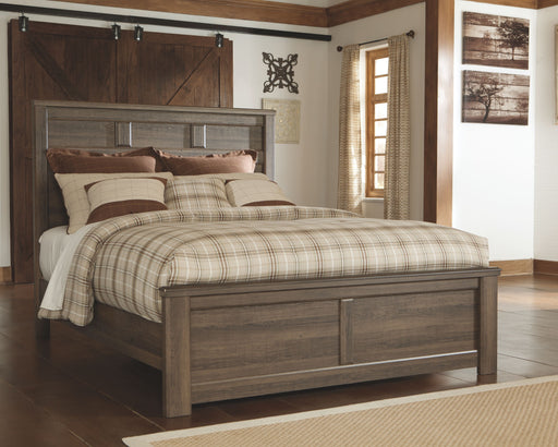 Juararo Dark Brown Queen Panel Bed Frame