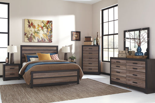 Harlinton Warm Gray Charcoal 5 Piece Queen Bedroom Set