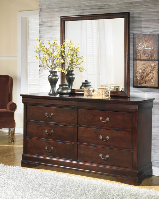 Alisdair Dark Brown Dresser and Mirror