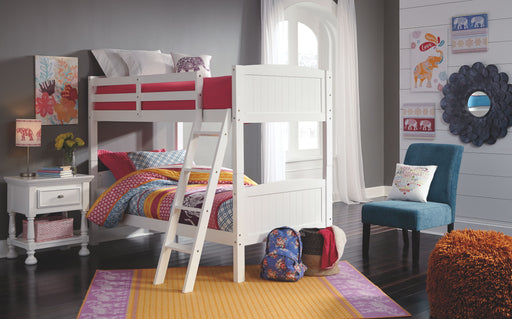 Kaslyn White Bunk Bed Frame