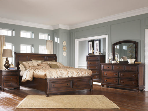 Porter Cherry  5PC Queen Bedroom set
