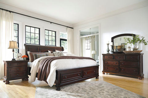 Porter Cherry 4PC Queen Bedroom set