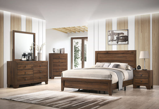 Millie Brown Cherry 5 Piece Queen Bedroom Set