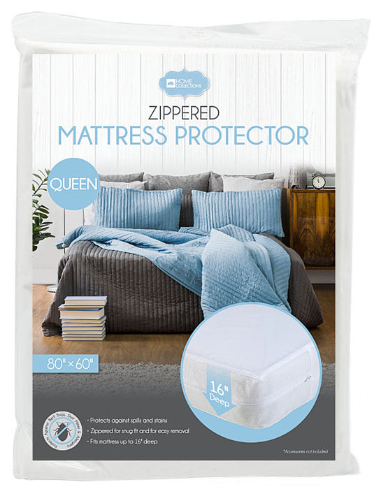 Zippered Mattress Protector With Home Collections Zippered Vinyl Mattress Protector 16