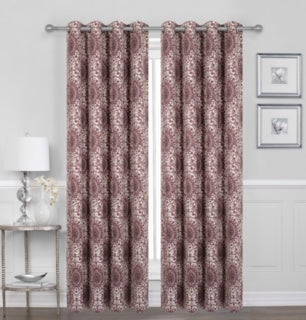 Britton Printed Voile Grommet Window Panel Pair