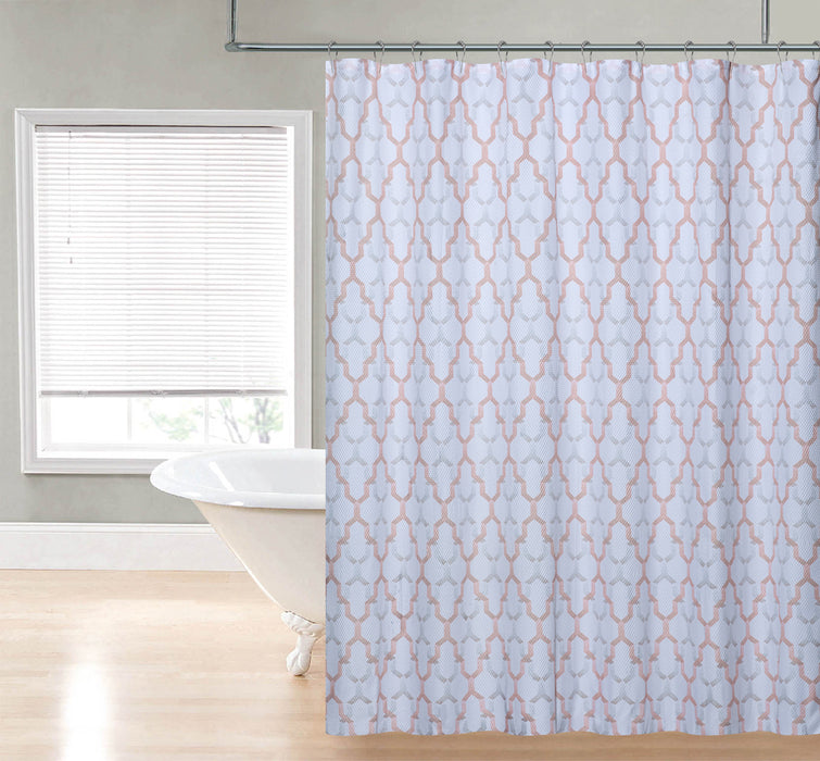 Charlton printed shower curtain, spice