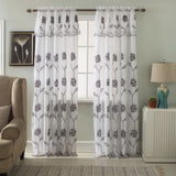 Ramallah Crystal One Embroidered Panel with Attached Valance and Backing