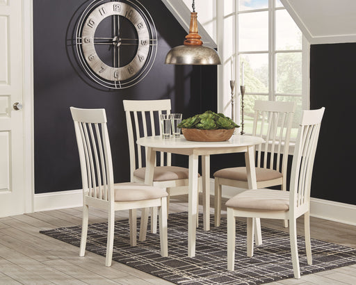 Slannery White 5 Piece Dining Room Set