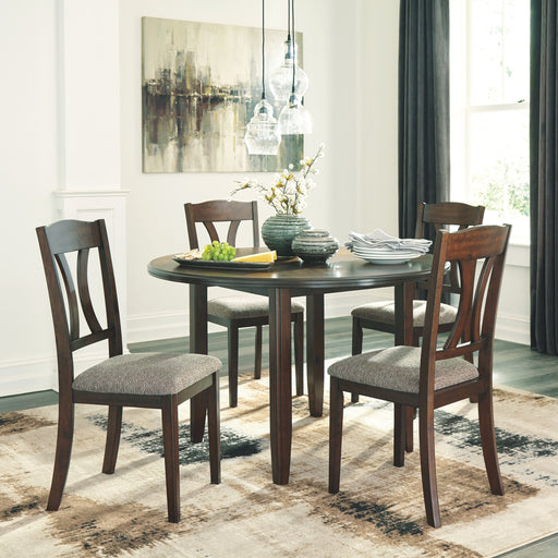 Charnalo Warm Brown 5 Piece Dining Room Set