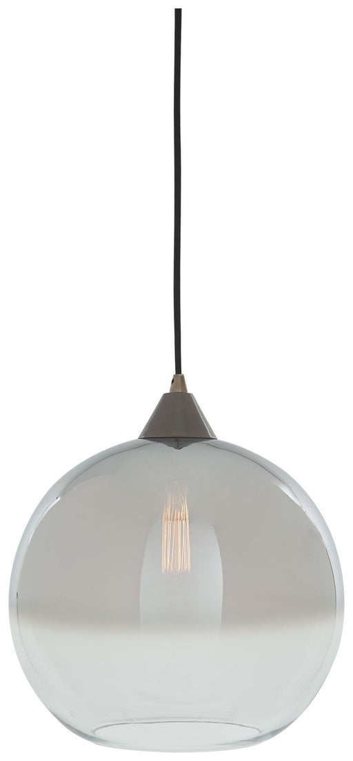 Minto Clear/Silver Finish Glass Pendant Light