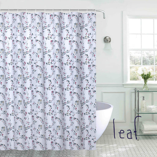 Leaf Berry Printed Shower Curtain