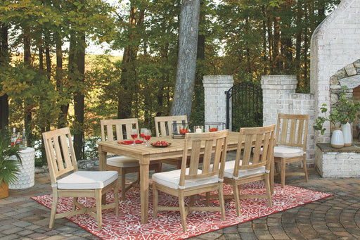 Clare View Beige Outdoor Dining Set