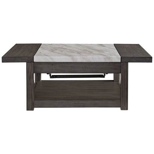 Vineburg Gray/White Lift Top Cocktail Table