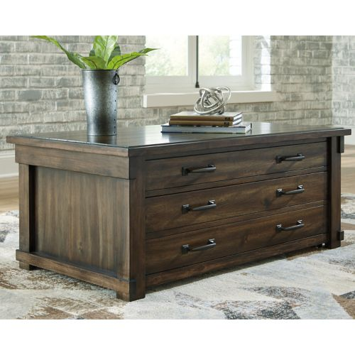 Lakeleigh Brown Lift Top Cocktail Table