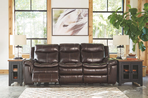 Lockesburg Canyon Leather Sofa