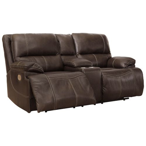 Ricmen Walnut 2 Piece Power Reclining Living Room Set