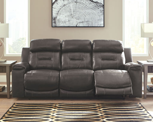 Pomellato Gray Leather Power Sofa