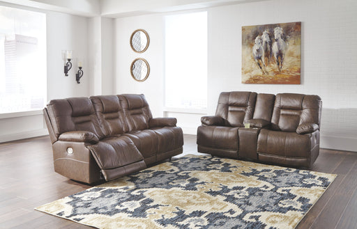 Wurstrow Umber Leather 2 Piece Living Room Set