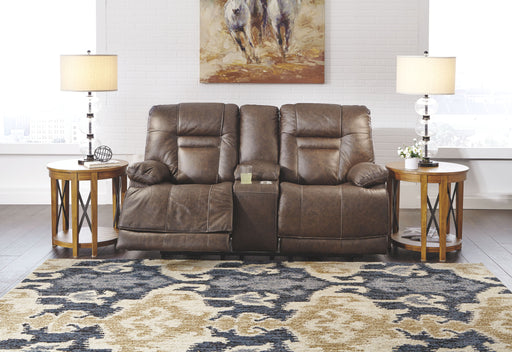 Wurstrow Umber Leather Power Love Seat