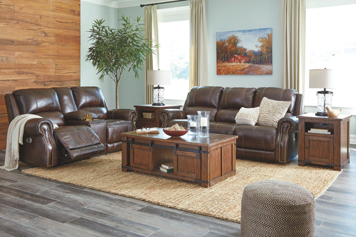 Buncrana Chocolate Leather 2 Piece Living Room Set