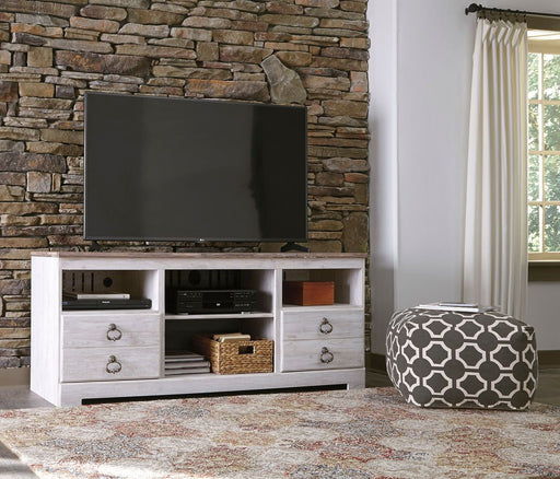 Willowton Whitewash TV Stand