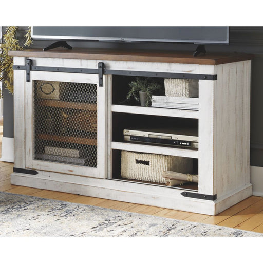 Wystfield White/Brown Medium Tv Stand