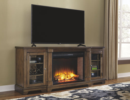 Flynnter Medium Brown TV Stand