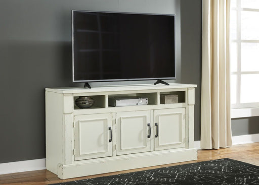 Blinton Antique White TV Stand