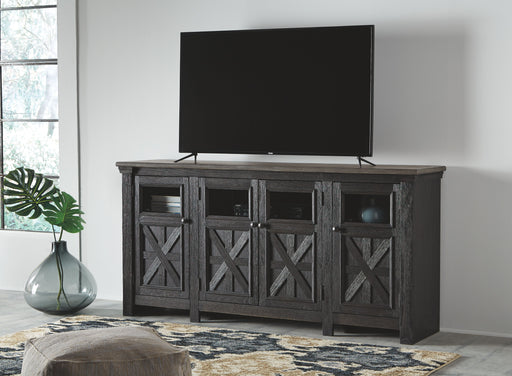 Tyler Creel Black/Gray TV Stand