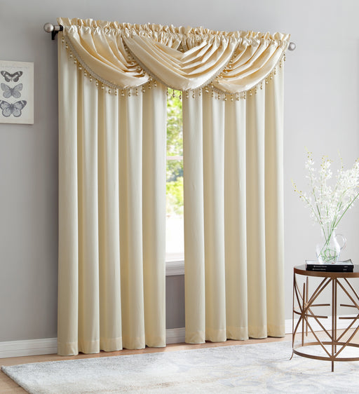 BRIDGET WINDOW VALANCE CRUSHED SATIN