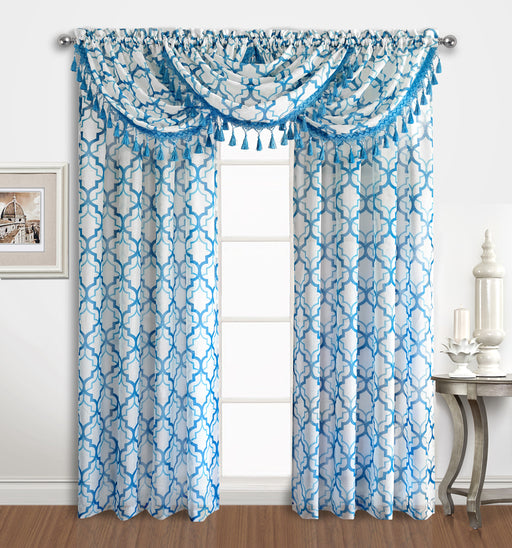 SANDERS SHEER RODPOCKET WINDOW VALANCE