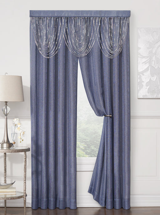 Luna One Beaded Cascade Rod Pocket Valance