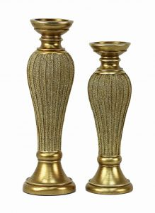 Arlisa Design Two Piece Hurricane Candlestick Set