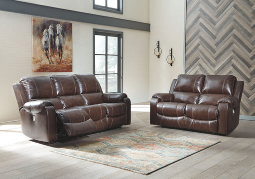 Rackingburg Mahogany Reclining Power Sofa & Reclining Power Loveseat