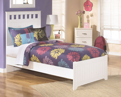 Lulu White Twin Panel Bed