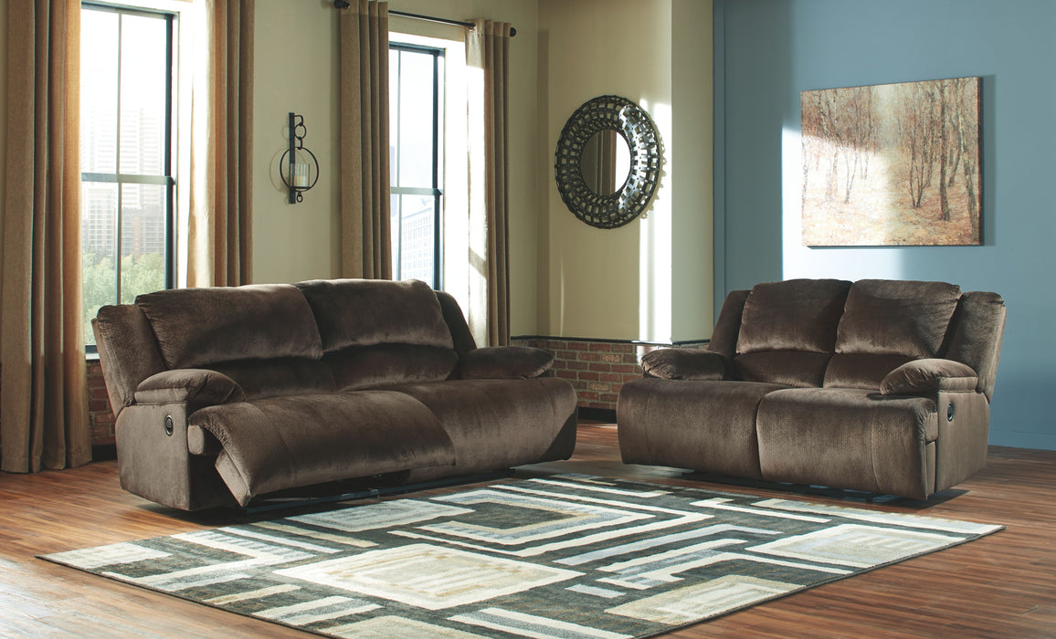 Sensational Clonmel Chocolate 2 Seat Reclining Power Sofa Reclining Power Loveseat Gmtry Best Dining Table And Chair Ideas Images Gmtryco