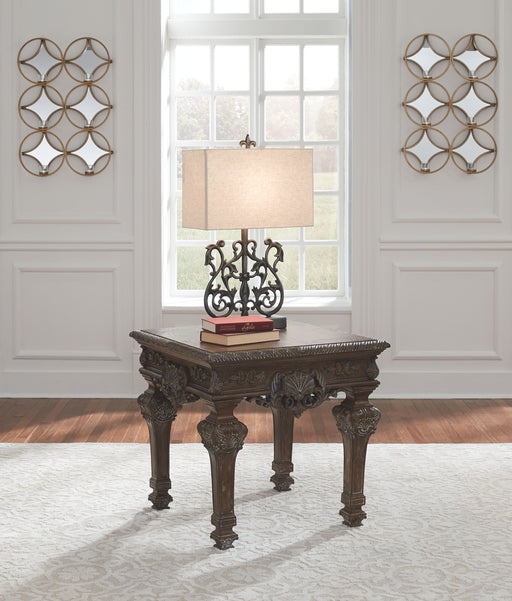 Charmond Brown Square End Table
