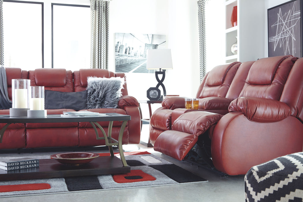 Phenomenal Vacherie Salsa Reclining Sofa Double Reclining Loveseat With Console Gmtry Best Dining Table And Chair Ideas Images Gmtryco