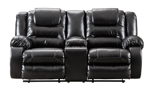 Vacherie Black Reclining Loveseat